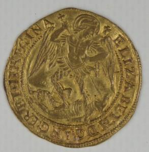Elizabethan gold angel2 1578
